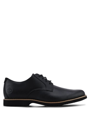 Timberland black Woodhull Leather Oxfords 2A13ESH8577231GS_1