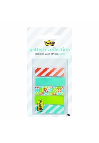 Post-IT 3M Post it Flags - Geos Pattern Collection 789BFHL288B3D0GS_1