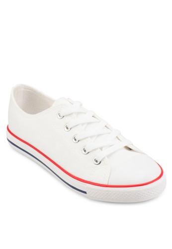 esprit服飾條紋邊飾繫帶運動鞋, 女鞋, 鞋