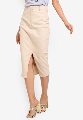 a8a882d316 Buy MISSGUIDED Cargo Front Split Midi Skirt Online on ZALORA Singapore
