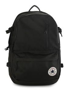 d8bea774aa36 Converse black Straight Edge Backpack A3668AC2FA87DDGS 1