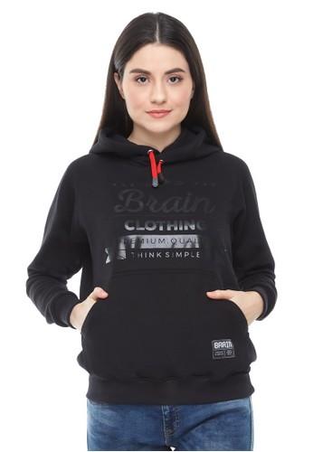 Brain Clothing black Hoodie BRAVEN 2D532AA5130820GS_1