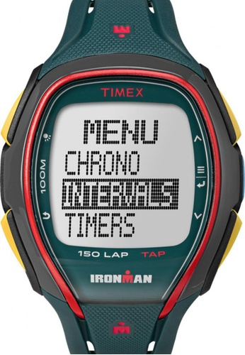 TIMEX multi Timex IRONMAN® Sleek 150 with Multicolour Case and Resin Strap TI857AC18NSZSG_1