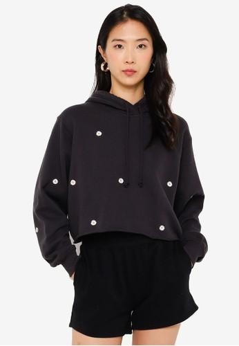Hollister black Floral Min Branded Sweatshirt D4D38AA71B2F52GS_1