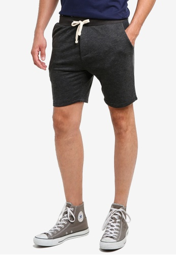 threads by the produce black Cotton Terry Shorts AE640AA8AFC906GS_1