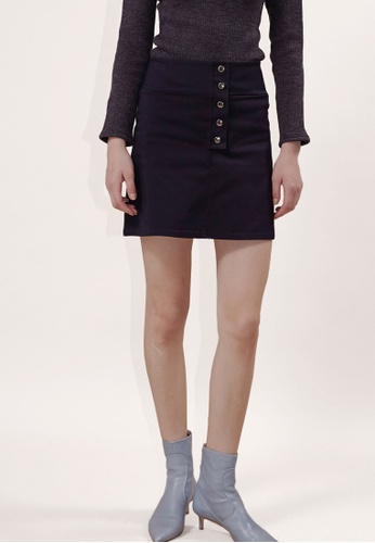 OUTSTANDING ORDINARY navy Gram Mini Skirt OU203AA0GIVRSG_1
