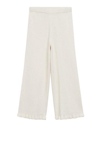 MANGO KIDS beige Cotton Knitted Trousers 22DFEKAA32C644GS_1
