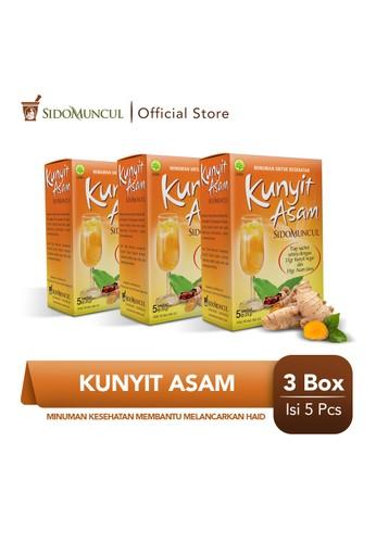 Sido Muncul orange Sido Muncul Minuman Kunyit Asam 3x5's - Membantu Melancarkan Haid C7304ESD5056BFGS_1