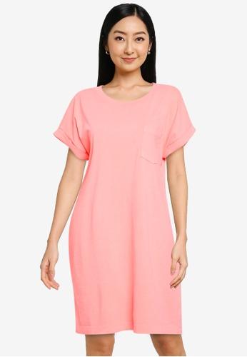 GAP pink Pocket Tee Dress 67F03AAC382E2CGS_1