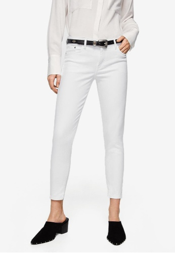 Mango white Crop Skinny Isa Jeans 84BF2AACEA6CB3GS_1