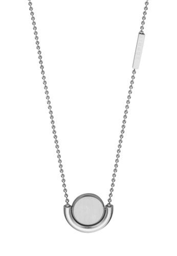 Esprit silver ESPRIT [Stella] Silver Stainless Steel Necklace (42 cm + 3 cm extension) 79CDCAC29D252DGS_1