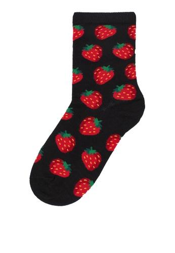 H&M black and multi Patterned Socks 9B76AAA8EE714CGS_1