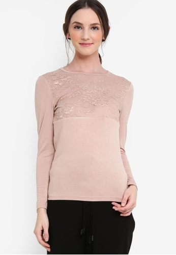 Lubna beige Front Lace Inner Top AABF7AABA77E82GS_1