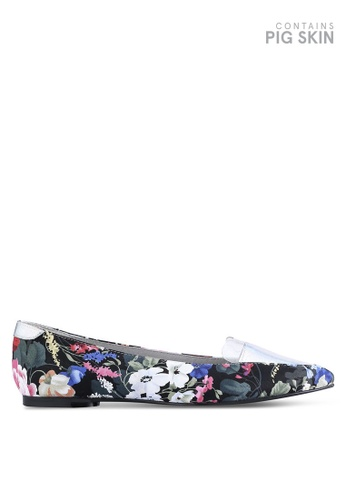 House of Avenues black and multi Pointy Flats With Floral Print HO685SH28BZZMY_1