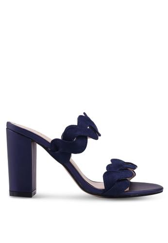 Velvet 海軍藍色 麂皮繞帶高跟鞋 8CBEESH7E0BFC7GS_1