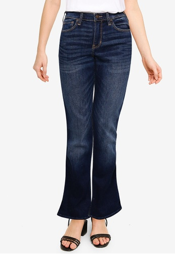 Hollister blue Dark Clean Mid Rise Boot Jeans 77CB5AA428C78AGS_1
