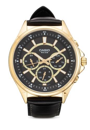 MTP-Eesprit outlet台北303GL-1AVDF 皮革男士手錶, 錶類, 飾品配件