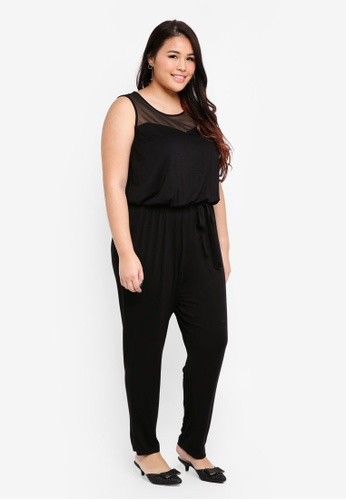 Dorothy Perkins black Plus Size Black Jersey Jumpsuit 08856AA4F0ED31GS_1