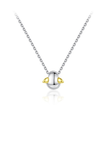 Glamorousky silver 925 Sterling Silver Simple Creative Wing Pendant with Necklace D3AC2AC65639F8GS_1