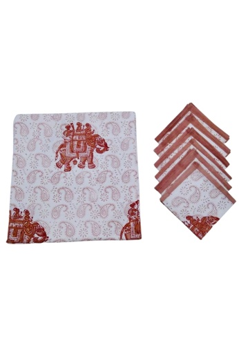 THE LOUNGE EDIT multi Tuva Tablecloth and Napkin Set BAF4FHL2F9313AGS_1