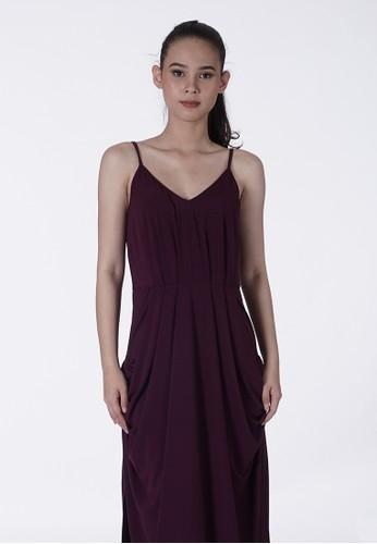 United Concepts purple Side Ruffle 'Juliette' Dress A1C51AAD034B5AGS_1