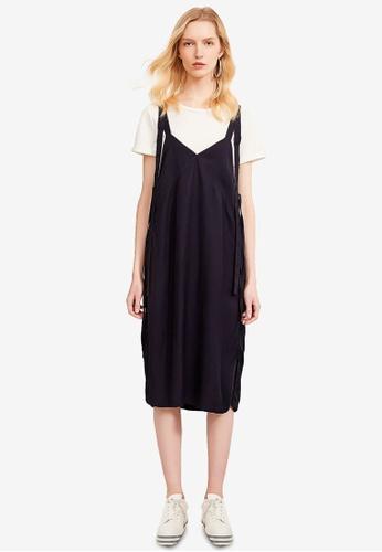 Hopeshow navy Wide Strap Slip Dress 550D2AA41C54F0GS_1