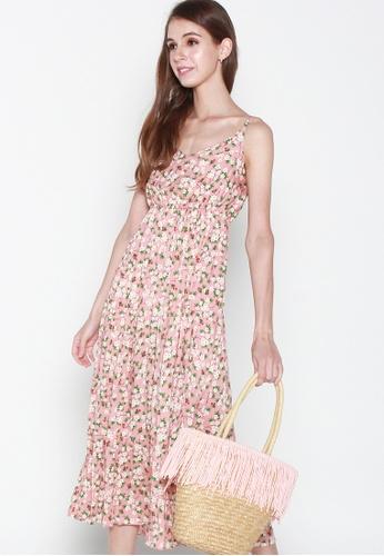 JOVET pink Camellia Dress A6624AAF7B053FGS_1