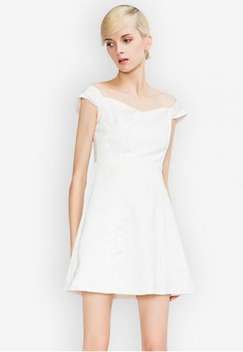 Sunnydaysweety white Sweetheart Style Off-Shoulder One Piece Dress EC05CAA30A444CGS_1