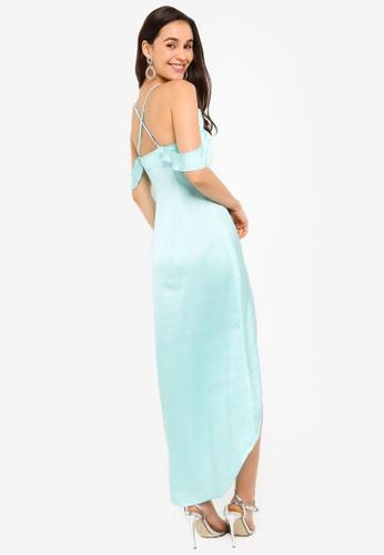 ZALORA green EVENING Cold Shoulder Hi-Low Dress 81AACAA0E79524GS_1