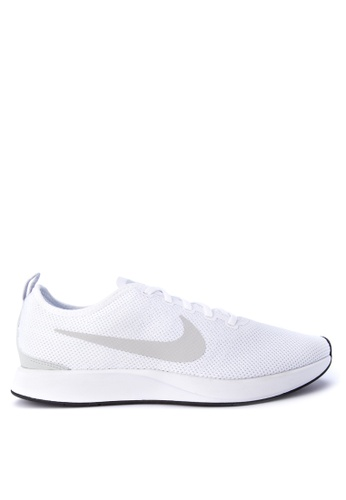 Nike white Men's Dualtone Racer Shoes NI126SH0KPW2PH_1