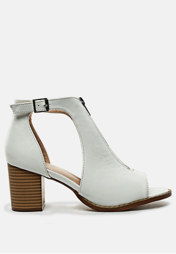 London Rag 白色 露趾方跟凉鞋 273F8SH085B913GS_1