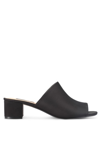 ZALORA black Low Chunky Slip On Heels 278AASH5480EC0GS_1
