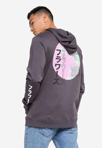 Only & Sons grey Kazu Life Hoodie 385CCAAD538990GS_1