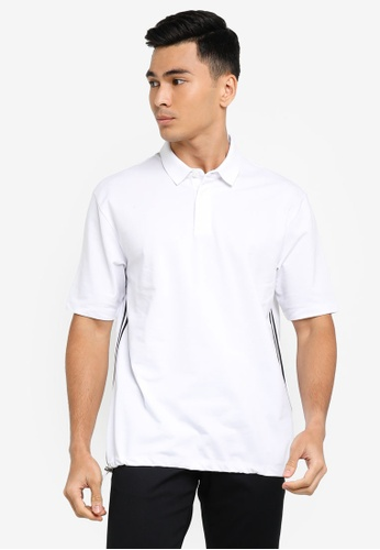 ck Calvin Klein white MERCERISED PIQUE POLO SHIRT WITH METAL TOGGLE 9B251AA1B5FD52GS_1