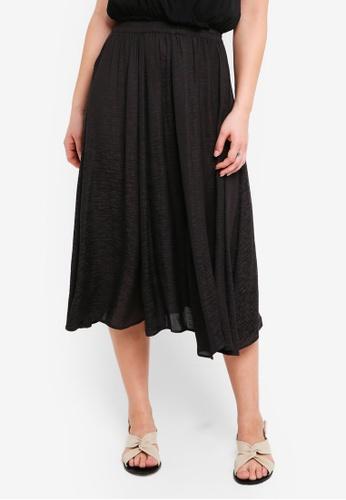 ICHI black Art Skirt E31E8AA1B1F408GS_1