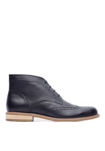 Life8 black British style Leather Oxford Leather Boots-09696-Black LI286SH0RWZXMY_1
