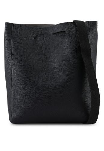 niko and ... black Pebbled Tote Bag 97FAAAC8775FBDGS_1