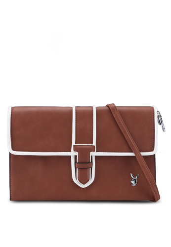 Playboy brown Playboy Clutch Bag E13ADAC7F1A3A6GS_1