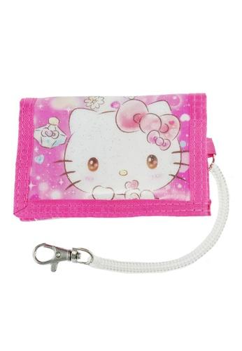 Hello Kitty pink Hello Kitty Shinning Perfume Tri Fold Wallet DEBE2KC8C2F09AGS_1