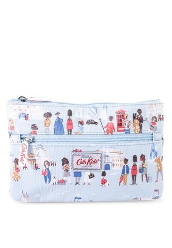 Cath Kidston blue Kids Double Zip Pencil Case FB089KC81D88D0GS_1