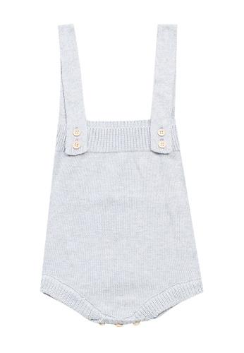 RAISING LITTLE grey Knitted Romper 8DFE2KAB4769E9GS_1