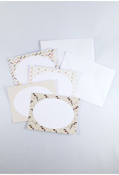 Geometric Creature & Shapes Mini Notecards Set