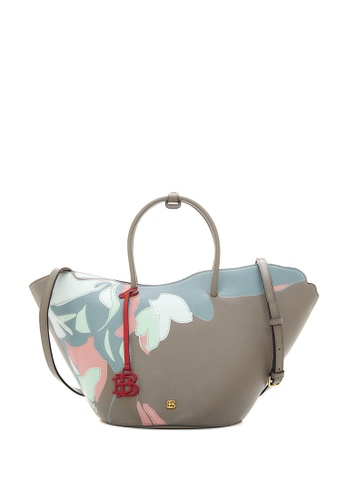 BONIA grey Medium Grey Samothrace Tote with Pastel Motif M 52E5BACC7535D7GS_1