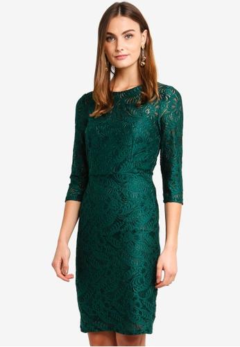 5b4ac7e28b72 Buy Paper Dolls Green Lace Dress Online on ZALORA Singapore