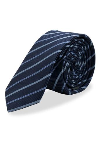 Arden Teal navy Sabara Skinny Silk Tie B8091ACAE9496EGS_1