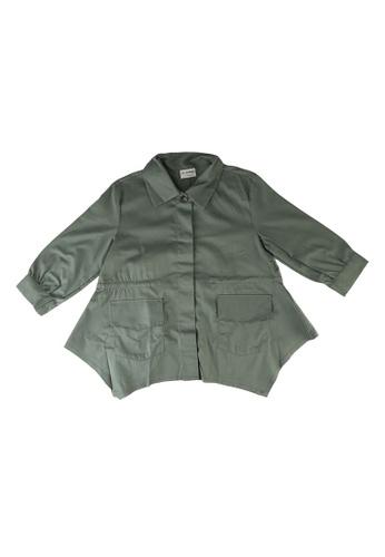 LC Waikiki green Girl's Cotton Jacket 9EEB4KAACB4761GS_1