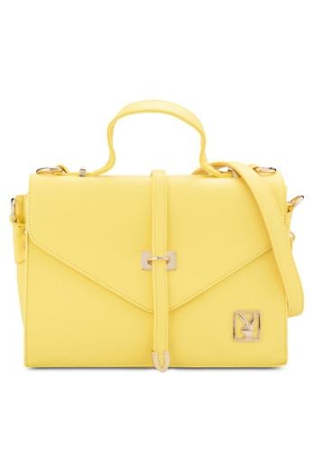 PLAYBOY BUNNY yellow Playboy Bunny Top Handle Bag PL604AC33DTAMY_1