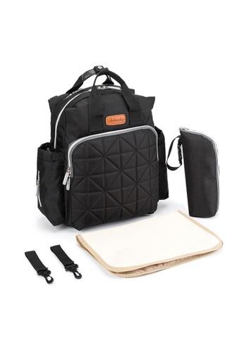 Jackbox black Ankommling Multi Function Large Capacity Diaper Mama Bag Backpack 761 (Black) 439C3AC09F7355GS_1