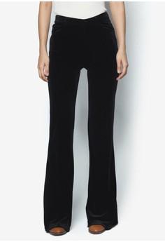 Flared Velvet Trousers