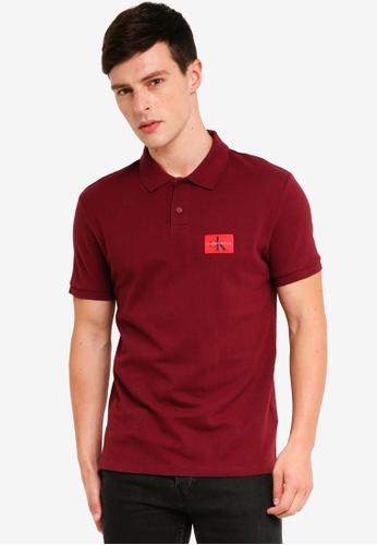 Calvin Klein 紅色 Monogram Regular Polo Shirt - Calvin Klein Jeans 75343AA939EE64GS_1